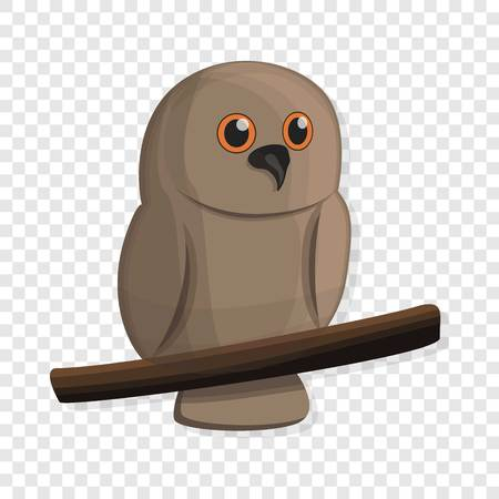 Brown owl icon. Cartoon of brown owl icon for web design