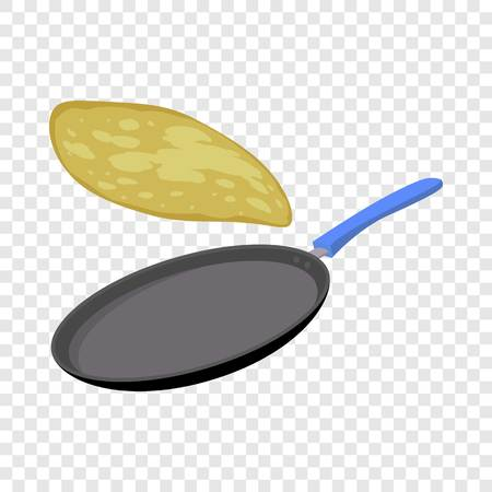Griddle pan icon. Flat illustration of griddle pan icon for web design Stock Photo