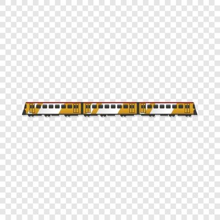 Passenger train icon. Cartoon of passenger train icon for web design Stock Photo