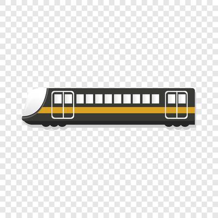 Urban passenger train icon. Cartoon of urban passenger train icon for web design Stock Photo