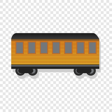 Old passenger wagon icon. Cartoon of old passenger wagon icon for web design Stock Photo