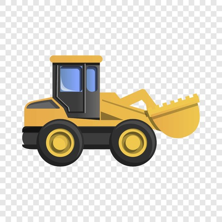 Wheel excavator icon. Cartoon of wheel excavator icon for web design