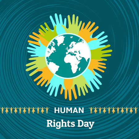 Human rights day concept background. Flat illustration of human rights day concept background for web design