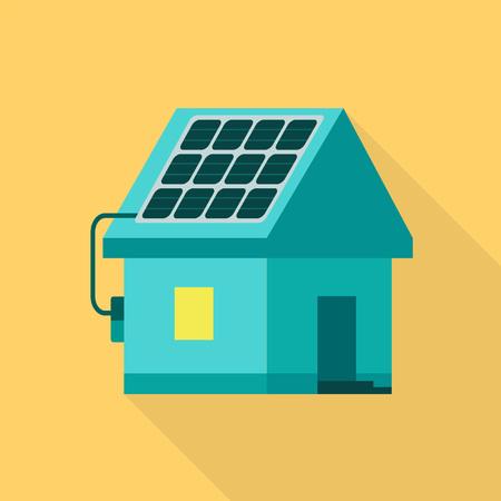 Eco house icon. Flat illustration of eco house icon for web design Archivio Fotografico - 114933880