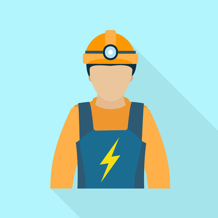 Electric man icon. Flat illustration of electric man icon for web design Standard-Bild - 114933881