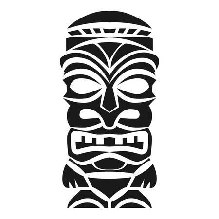 Wood idol icon. Simple illustration of wood idol icon for web design isolated on white background