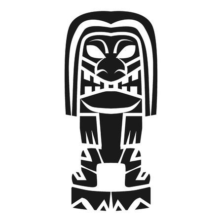 Icône d'idole tiki femme. Simple illustration de l'icône idole tiki femme pour la conception web isolé sur fond blanc Banque d'images