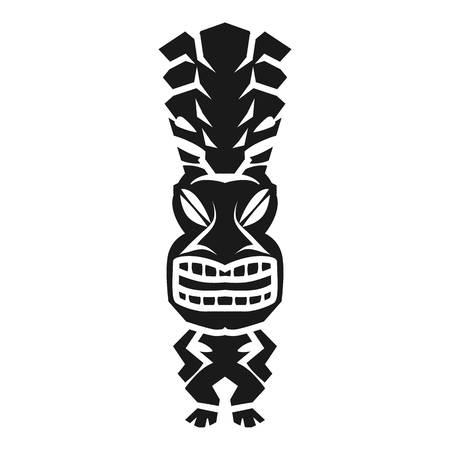 Tribal aztec idol icon. Simple illustration of tribal aztec idol icon for web design isolated on white background