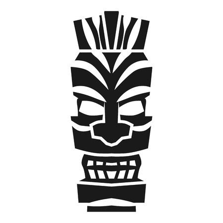 Icône d'idole de mystère tribal. Simple illustration de l'icône idole mystère tribal pour la conception web isolé sur fond blanc