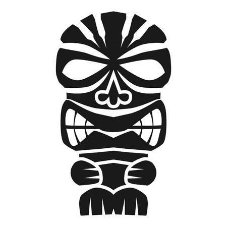 Icône d'idole polynésienne. Simple illustration de l'icône idole polynésienne pour la conception web isolé sur fond blanc Banque d'images