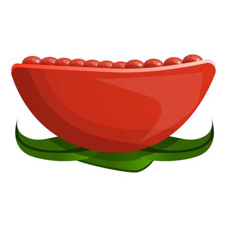 Pomegranate icon. Cartoon of pomegranate icon for web design isolated on white background Foto de archivo - 115110979
