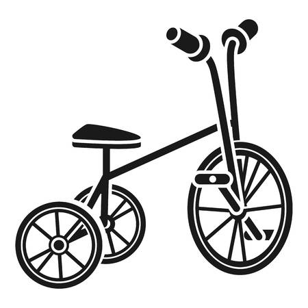 Tricycle icon. Simple illustration of tricycle icon for web design isolated on white background Stockfoto
