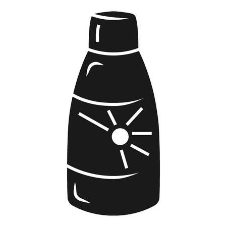Sun cream bottle icon. Simple illustration of sun cream bottle icon for web design isolated on white background