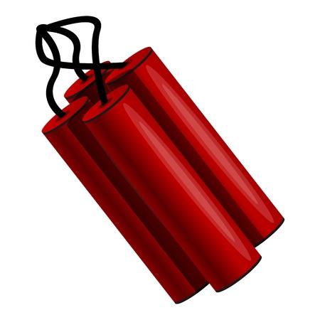 Dynamite icon. Cartoon of dynamite icon for web design isolated on white background