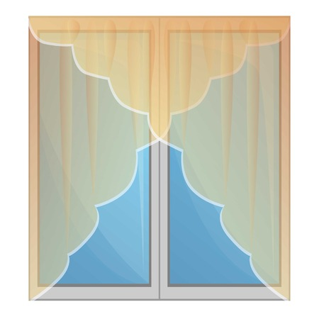 window curtains icon. Cartoon of window curtains icon for web design isolated on white background Stockfoto