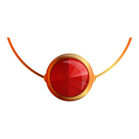 Ruby necklace icon. Cartoon of ruby necklace icon for web design isolated on white background