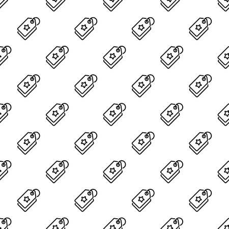 Star brand label pattern seamless repeat for any web design