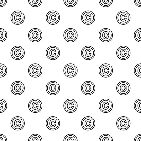 Copyright sign pattern seamless repeat for any web design