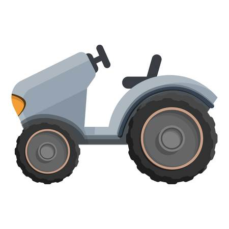 Farm tractor icon. Cartoon of farm tractor vector icon for web design isolated on white background