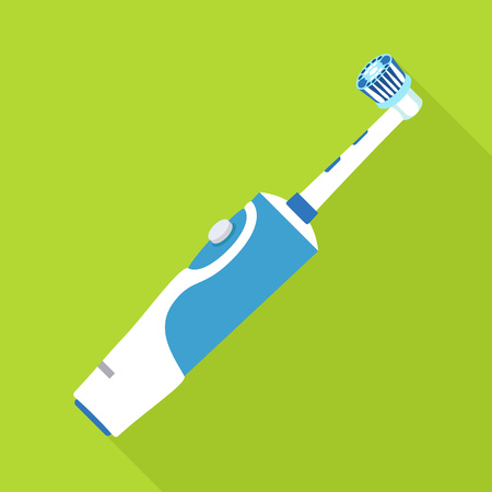 Electric toothbrush icon. Flat illustration of electric toothbrush vector icon for web design
