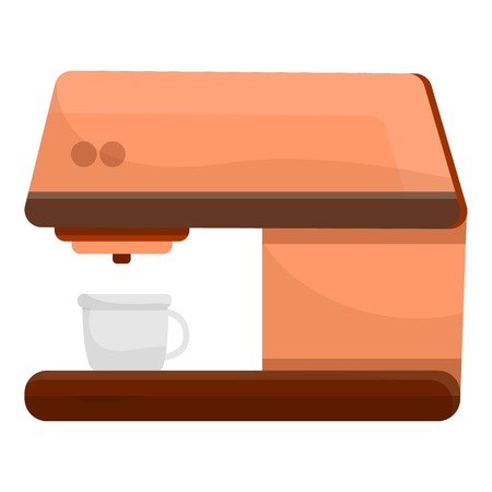Italian coffee maker icon. Cartoon of italian coffee maker vector icon for web design isolated on white background