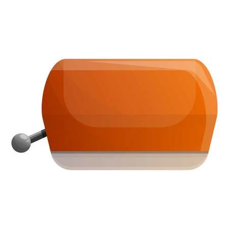 Retro toaster icon. Cartoon of retro toaster vector icon for web design isolated on white background