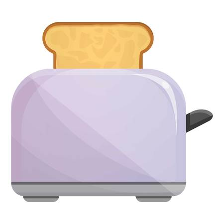 Metal toaster icon. Cartoon of metal toaster vector icon for web design isolated on white background