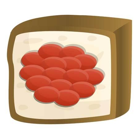Caviar sushi icon. Cartoon of caviar sushi vector icon for web design isolated on white background Vektorové ilustrace