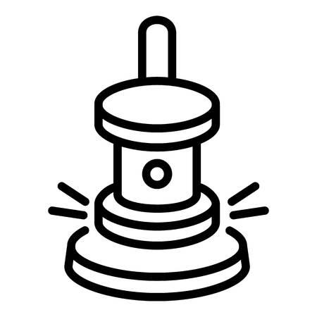 Hammer-Symbol. Umriss-Hammer-Symbol für Webdesign isoliert auf weißem Hintergrund