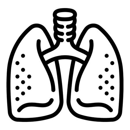 Healthy lungs icon. Outline healthy lungs icon for web design isolated on white background