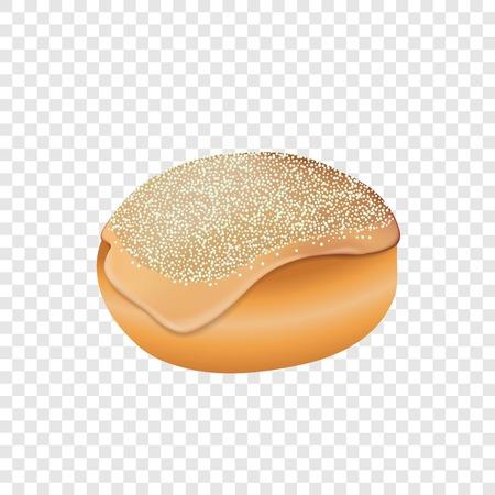 Jewish bakery icon. Realistic illustration of jewish bakery icon for web design for web design Stock Photo