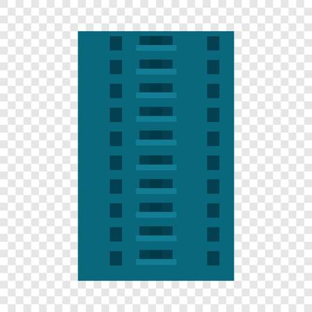 Abandoned city building icon. Flat illustration of abandoned city building icon for web design