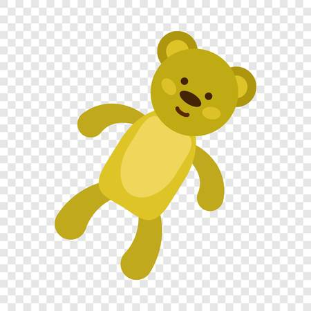 Teddy bear icon. Flat illustration of teddy bear icon for web design Banque d'images - 115245104