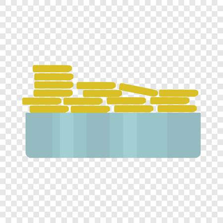 Stack bread piece icon. Flat illustration of stack bread piece icon for web design