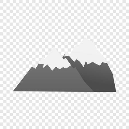 Hiking mountain icon. Cartoon of hiking mountain icon for web design for web design Banco de Imagens