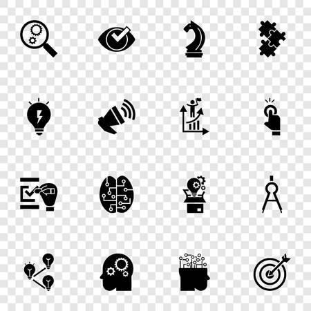 Solution icon set. Simple set of solution icons for web design