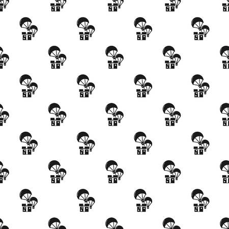 Donation parachute box pattern seamless repeat for any web design 免版税图像