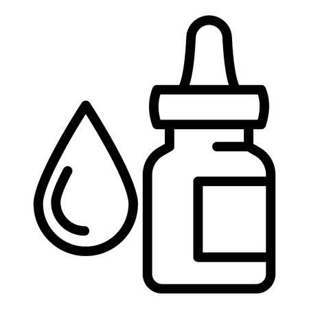 Eye dropper bottle icon. Outline eye dropper bottle vector icon for web design isolated on white background Ilustração