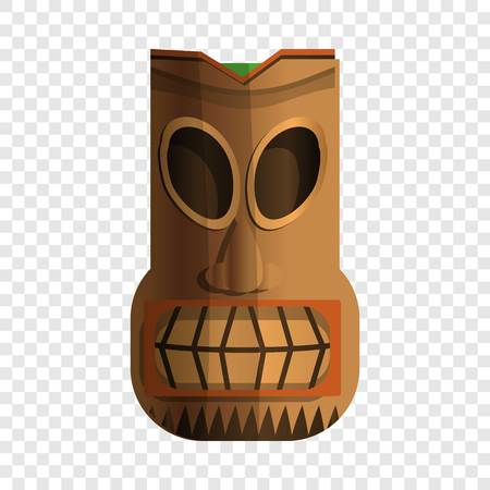 Wood indian idol icon. Cartoon of wood indian idol vector icon for web design for web design