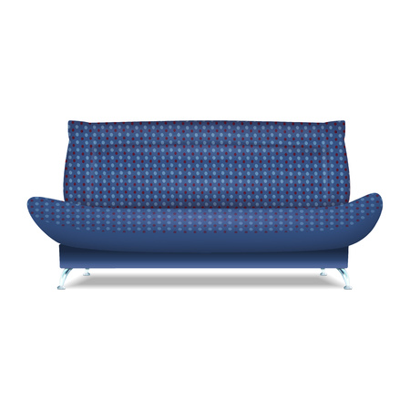 Dotted sofa icon. Realistic illustration of dotted sofa vector icon for web design isolated on white background