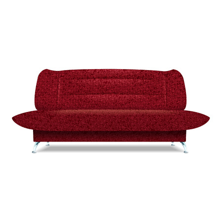 Red textile sofa icon. Realistic illustration of red textile sofa vector icon for web design isolated on white background