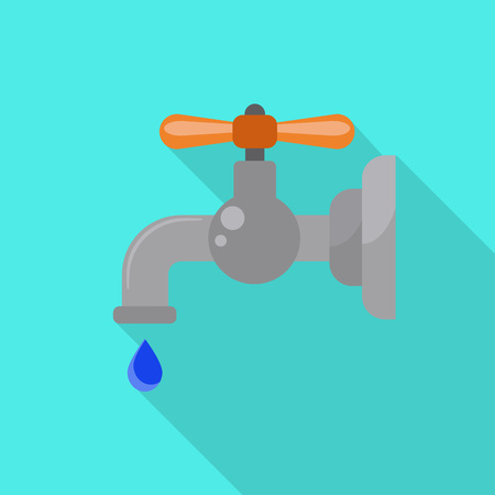 Drop water tap icon. Flat illustration of drop water tap vector icon for web design