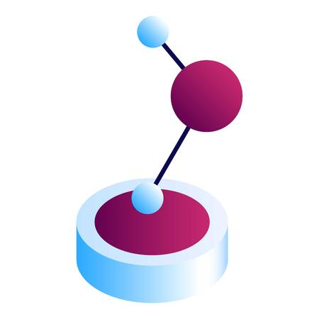 Molecule statue icon. Isometric of molecule statue vector icon for web design isolated on white background