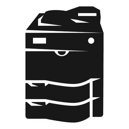 Icona della copiatrice. Semplice illustrazione della copiatrice icona vettoriali per il web design isolato su sfondo bianco