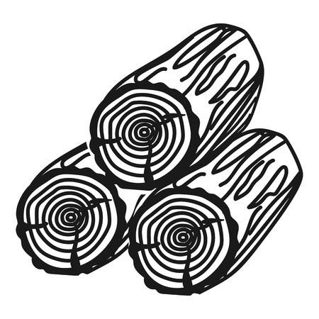 Three logs icon. Simple illustration of three logs vector icon for web design isolated on white background 写真素材 - 125861740