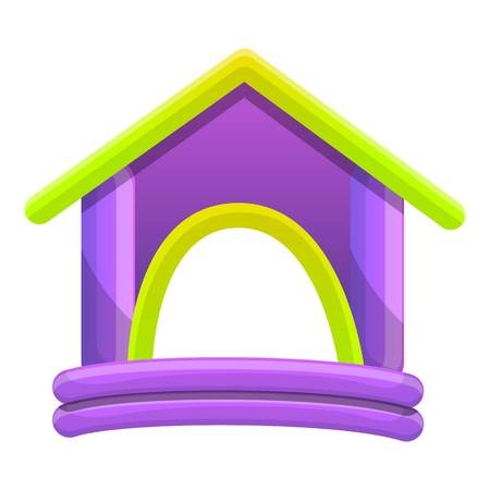 Rubber kind huisje. Cartoon van rubber kid huis vector pictogram voor webdesign geïsoleerd op een witte achtergrond