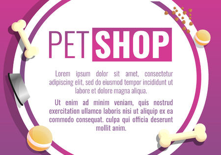 City pet shop concept banner. Cartoon illustration of city pet shop vector concept banner for web design