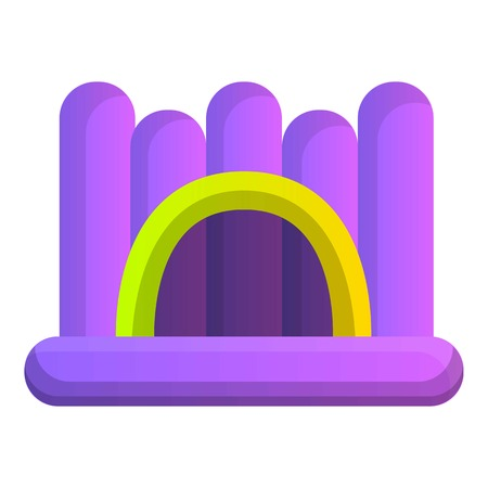 Inflated jumping castle icon. Cartoon of inflated jumping castle vector icon for web design isolated on white background Illustration