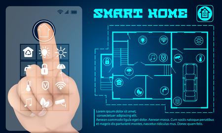 Intelligent building banner. Realistic illustration of intelligent building vector banner for web design Illustration