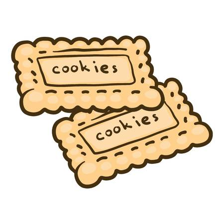 Cookies icon. Hand drawn illustration of cookies vector icon for web design Illustration